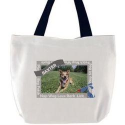 Happy Dog Custom Photo Tote Bag