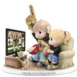 Every Day is a Touchdown with You Saints Fan Figurine