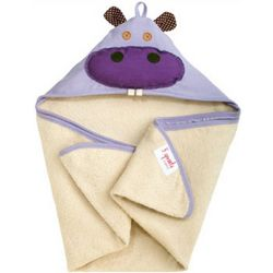 Hippo Organic Hooded Baby Towel