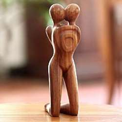 Love in Love Wood Statuette