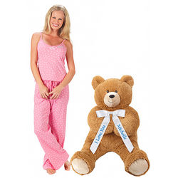 Lil' Hunka Love Say Anything Bear and Polka Dot Pajamas