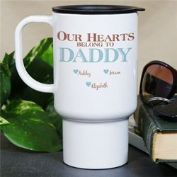 Personalized Our Hearts Belong To Them Travel Mug