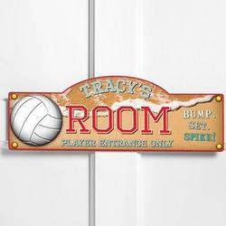 Personalized Beach Volleyball Room Sign