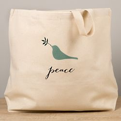 God Notes Peace Dove Tote