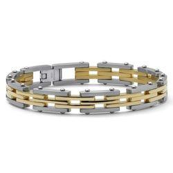 Men's Tutone Stainless Steel Bracelet