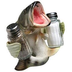 Bass Salt & Pepper Shaker Holder