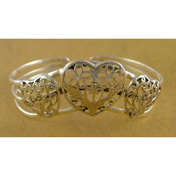 Perfect Love Sterling Silver Cuff Bracelet