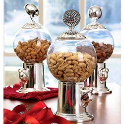 Globe Snack Dispenser with Globe Finial