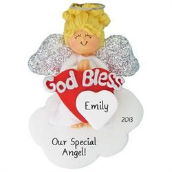 Angel On Cloud Christmas Ornament