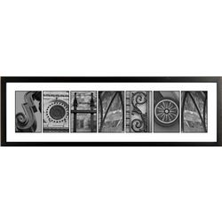 Urban Alphabet II Black and White Architectural Name Print