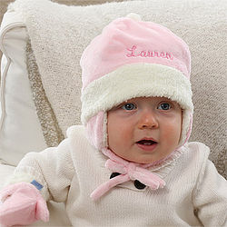 Personalized Winter Baby Hat for Girls