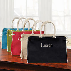 Personalized Jute Hampton Tote