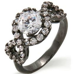 Brilliant Cut Cubic Zirconia Ring with Infinity Design