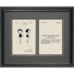 Betty Boop Patent Art Replica 11x14 Framed Print