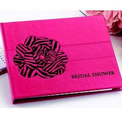Pink Zebra Print Bridal Shower Guest Book