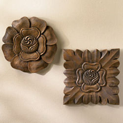 Handmade Flower Plaques