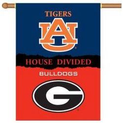 Georgia Auburn House Divided 2-Sided Banner