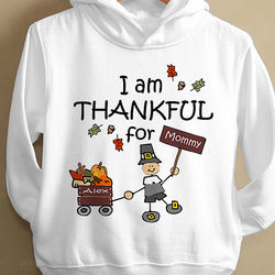 Personalized Kid's Thanksgiving Pilgrim Hooded Sweatshirt