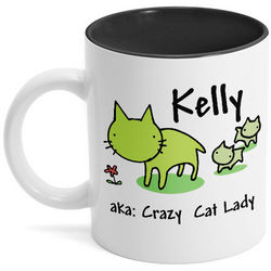 Crazy Cat Lady Personalized Coffee Mug