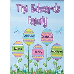 Personalized Easter Flowers Garden Flag