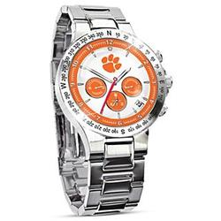 Clemson University Tigers Chronograph Stainless Steel Watch