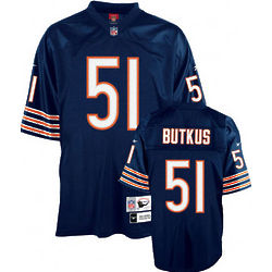 Dick Butkus Chicago Bears Navy NFL Premier Throwback Jersey
