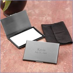 Brushed Business Card Case