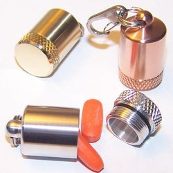 Key Ring Metal Pill Box