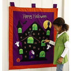 Quilted Felt Halloween Countdown Calendar