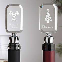 Happy Holidays Engraved Wine Bottle Stopper