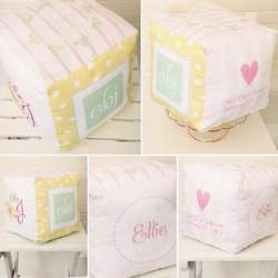 Personalized Pastel Baby Girl Block