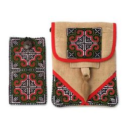 Ultimate Red Hemp Purse And Phone Pouch