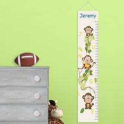 Personalized Kid's Height Chart Canvas