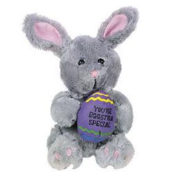 You're Eggstra Special Gray Plush Bunny Per Each