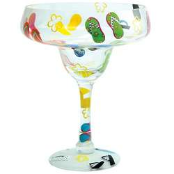 Hand-Painted Giant Flip Flops Margarita Glass