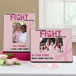 Find a Cure Personalized Breast Cancer Awareness Picture Frame