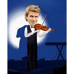 Men's Violinist Caricature Art Print