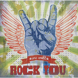 We Will Rock You Box Wall Sign