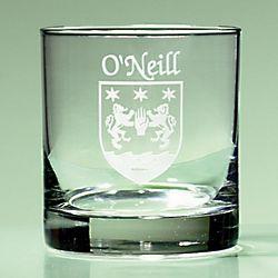 Personalized Irish Coat of Arms Tumbler Glasses