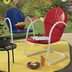Retro Metal Lawn Chair