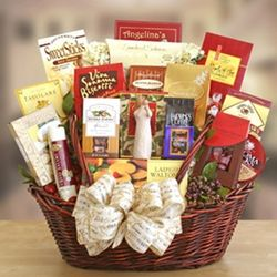 Peace, Prayer, and Blessing Sympathy Gift Basket