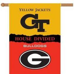 Georgia vs. Georgia Tech House Divided 2-Sided Banner