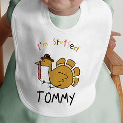I'm Stuffed Turkey Design Baby Bib