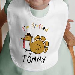I'm Stuffed Turkey Design Baby Bib