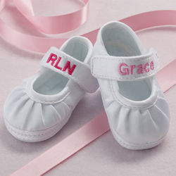 Personalized Mary Jane Girl's Baby Shoes
