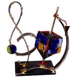 Miniature Music Themed Dreidel