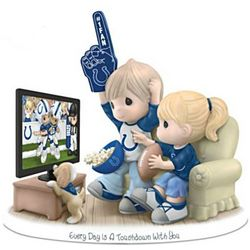Every Day is a Touchdown with You Colts Fan Figurine