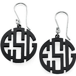 Acrylic Monogram Dangle Earrings