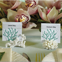 8 Coral Place Card Holders