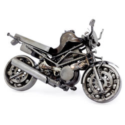 Rustic Monster Motorbike Sculpture